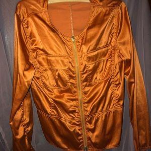 Jackets & Blazers - Satin Moto jacket